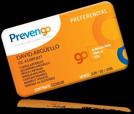 Tarjeta preferencial prevengo